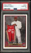 2003-04 Topps LeBRON James RC Rookie Card #221 GEM MINT PSA 10 Cavaliers