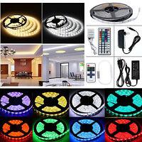 1M-20M SMD 5050 RGB/White Flexible Strip String Light Lamp Rope (Remote+Power)