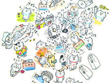 41pc Cartoon Tabby Cats Stickers lot Die-cuts for junk bullet journal scrapbook