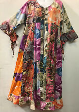 Nwt FUNKY STUFF floral hippy cotton ROBE TOP DUSTER COVERUP 2X 22W Free shipping