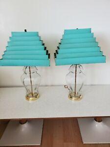 Vintage Venetian Blind Lampshades AQUA