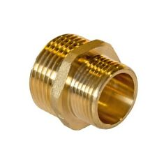"3/4"" X 1/2""  BSP BRASS REDUCING HEXAGON NIPPLE - BRAND NEW"