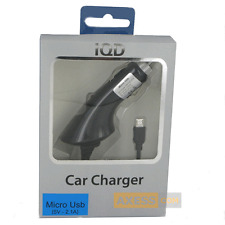 CHARGEUR VOITURE Allume-cigare 2,1A Noir compatible SAMSUNG Galaxy S6 Edge+