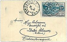 BOATS  PAQUEBOT -  POSTAL HISTORY COVER : SENEGAL to Czechoslovakia 1931