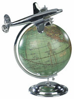 "Lockheed Super Constellation Airplane Desktop Globe 10.5"" Travel Agent Decor New"