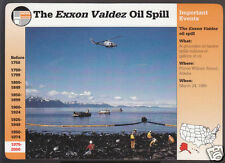 THE EXXON VALDEZ OIL SPILL 1989 Picture History GROLIER STORY OF AMERICA CARD