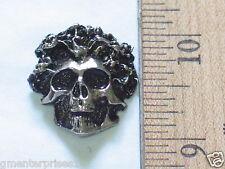 Skull Motorcycle Pin Badge (#498)