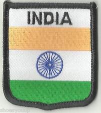 INDIA CREST FLAG WORLD EMBROIDERED PATCH BADGE