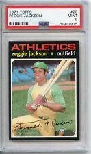 1971 Topps Reggie Jackson #20 PSA 9 Athletics