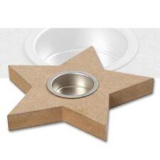 Deko-Kerzenteller & -tabletts aus Holz mit Stern-Schliffform