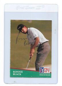 RONNIE BLACK Signed 1991 PRO SET Golf Card #123 PGA Lamar University Cardinals