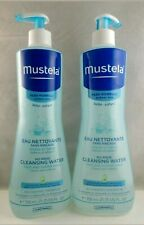 Mustela No Rinse Cleansing Water for Face, Body & Diaper Area 2 Bottles ~ Unisex