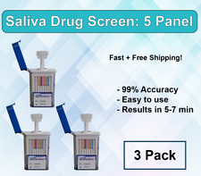 5 Panel Instant At Home Saliva Drug Test - Mouth Swab Drug Test  -Free Shipping!