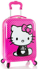 Heys America Luggage Hello Kitty 3D Spinner Carry On 4 Wheeled Suitcase - Pink