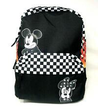 Vans Disney Mickey Backpack School Bag Minnie Black Flames Mouse Checkerboard