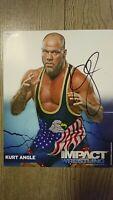 Kurt Angle 2011 Signed 8x10 Photo (WWE/IMPACT/TNA)