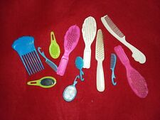 Mixed Lot of BARBIE  hairbrushes, mirrors, combs etc