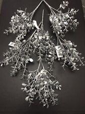 6x Silver Eucalyptus Bunches Artificial Christmas Plant Bush Foliage Leaf Spray