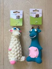 LATEX SQUEAKY SHEEP, COW DOG TOY 5*15CM