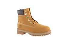Timberland 6 Inch Premium Wheat Nubuck Leather Waterproof Boot 12909 Junior