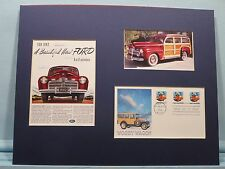 The 1942 Ford - The Woody Wagon & First day Cover of its own stamp