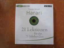 """Yuval Noah Harari""""21 Lektionen für das 21. Jahrhundert"""",2 mp3-CDs,OVP,ohne Porto"""