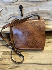 New ListingPatricia Nash Nwt Granada Crossbody Bag Italian Leather Riot Rust Map Msrp $129