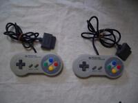 Nintendo Super Famicom 2 controller set SNES SFC Japan F/S
