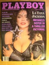 Original Playboy Magazine March 1989 LaToya Jackson Pamela Des Barres L Wood