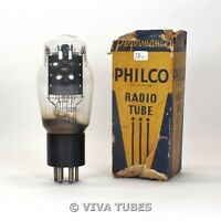 True NOS NIB Philco USA Type 48 Black Plate ENGRAVED Rattle Vacuum Tube
