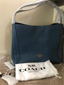 Coach 73549 Hadley Hobo With Dust Bag (Lake Blue) Retail $395