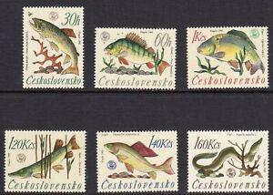 Fish -1966 Czechoslovakia set fine fresh hinged mint