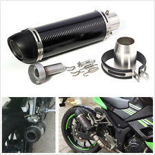 51mm/2Inch Motorcycles Scooter Modified Exhaust Muffler Pipe Glossy Carbon Fiber