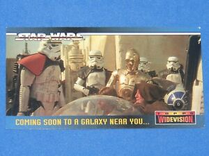 1994 STAR WARS A NEW HOPE WIDEVISION SWP1 PROMO CARD! THESE ARE NOT THE DROIDS