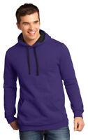 District Men's New Long Sleeve Tear Away Fleece Winter Hoodie XS-4XL. DT810