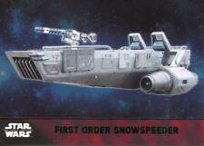 Star Wars Force Awakens S1 Green Parallel Base Card #57 First Order Snowspeeder