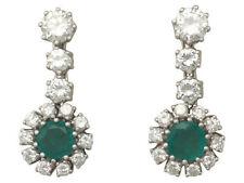 Emerald Drop/Dangle Natural Not Enhanced Fine Earrings