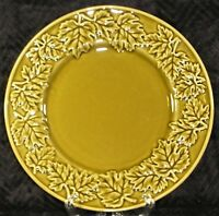 """Roscher Autunno 9"""" Olive Green Salad Plate - Embossed Leaves #35031U"""