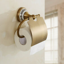 Antique Brass Toilet Paper Roll Holder Wall Mounted Bathroom Accessory