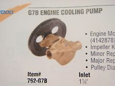 WATER PUMP CHRYSLER INBOARD 318 360 SHERWOOD G7B MARINE ENGINE RAW WATER PUMP