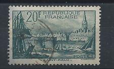France N°394 Obl (FU) 1938 - Port de Saint-Malo