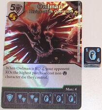Foil OWLMAN: BRAINS OF THE OPERATION 66/124 Batman Dice Masters DC
