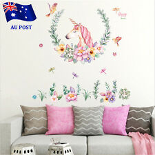 Unicorn Nursery Wall Decal Mural Sticker Art Removable Vinyl Home Decor Stickers