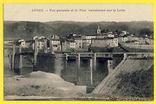 cpa Auvergne 43 - AUREC sur LOIRE  Vue Générale Le PONT Transformé