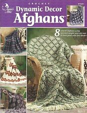 Dynamic Decor Afghans Eclectic Crochet Instruction Patterns Annie's Attic NEW