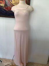 Joelle La Perla Italy Peach Lace Nightgown Size  2 Beautiful!