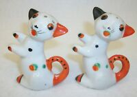 Vintage Japan Hand Painted Black and Orange Cats Kittens Salt and Pepper Shakers