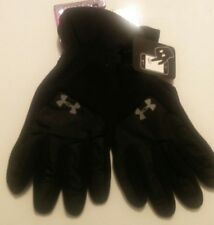 Under Amour Elements 3.0 Armour Fleece Gloves Charcoal Mens Medium New