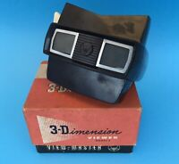 Vintage 1950s View Master 3-D Model E and 4 Sets Of Reels 3 Reels In Each Set