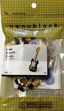 Gold Electric Guitar Nanoblock Miniature Building Blocks New Sealed Pk NBC 023